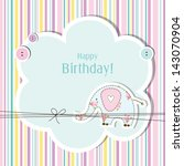 baby girl. baby shower... | Shutterstock . vector #143070904