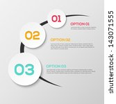 abstract 3d infographics | Shutterstock .eps vector #143071555