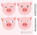 Pigs vector illustration - stock vector