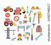 set of construction objects.... | Shutterstock .eps vector #1430748017
