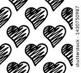 black hearts seamless pattern.... | Shutterstock .eps vector #1430750987