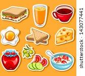 Vector Healthy Breakfast Icon...