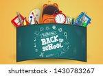 back to school with school... | Shutterstock .eps vector #1430783267