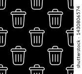 trash simple vector icon...   Shutterstock .eps vector #1430806574