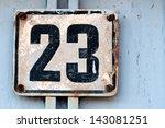 house number   number 23 | Shutterstock . vector #143081251