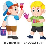 the boys are playing with the...   Shutterstock .eps vector #1430818574