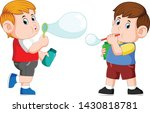 the boy are playing with the...   Shutterstock .eps vector #1430818781
