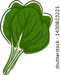 illustration of a spinach  a... | Shutterstock .eps vector #1430823221