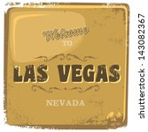 Vintage Grunge Effect Of Vegas...