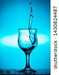splash of wine or water in a... | Shutterstock . vector #1430824487