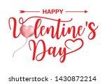 happy valentine s day ... | Shutterstock .eps vector #1430872214