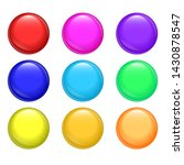 set of glossy buttons vector... | Shutterstock .eps vector #1430878547