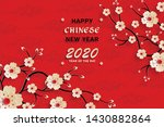 happy chinese new year 2020 rat ... | Shutterstock .eps vector #1430882864