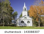 Old Country Church In Fall ...
