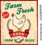 Retro Fresh Eggs Poster Design