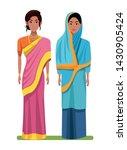 indian indian women wearing... | Shutterstock .eps vector #1430905424