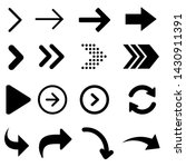 arrow vector icon. signs... | Shutterstock .eps vector #1430911391