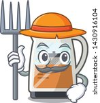 farmer tea maker isolated with... | Shutterstock .eps vector #1430916104