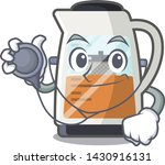 doctor tea maker isolated with... | Shutterstock .eps vector #1430916131