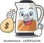 with money bag tea maker... | Shutterstock .eps vector #1430916134