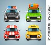 vector car icon set   Shutterstock .eps vector #143091634