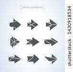 set of simple flat arrows. logo ...