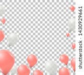 vector pink and white helium... | Shutterstock .eps vector #1430929661