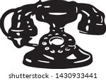 telephone   retro ad art... | Shutterstock .eps vector #1430933441