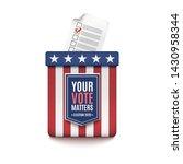 american election 2020...   Shutterstock . vector #1430958344