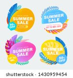 set of summer sale and discount ... | Shutterstock .eps vector #1430959454