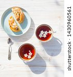 still life   cups of tea and... | Shutterstock . vector #1430960561