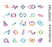 set of arrows for infographics | Shutterstock .eps vector #143097364