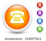 telephone icons on round button ... | Shutterstock .eps vector #143097811