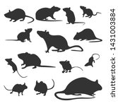 set of mouse design vector.... | Shutterstock .eps vector #1431003884