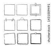 handdrawn square doodle frame... | Shutterstock .eps vector #1431009491
