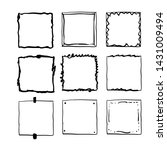 handdrawn square doodle frame... | Shutterstock .eps vector #1431009494