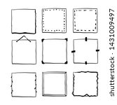 handdrawn square doodle frame...   Shutterstock .eps vector #1431009497