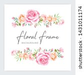floral frame wedding invitation ...   Shutterstock .eps vector #1431011174