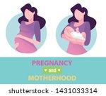 motherhood. a mother with a...   Shutterstock .eps vector #1431033314