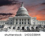 Stock photo us capitol building with sunrise sky in washington dc 143103844