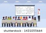 business person teacher teaches ... | Shutterstock .eps vector #1431055664