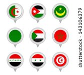 set of map flag icon  vector | Shutterstock .eps vector #143106379