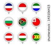 set of map flag icon  vector  | Shutterstock .eps vector #143106415