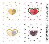 set of happy valentines day... | Shutterstock .eps vector #1431072347