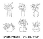 vector set of cute house plants ... | Shutterstock .eps vector #1431076934