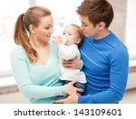 Happy Family And Adorable Baby...