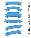 set of blue ribbon banner icon  ...   Shutterstock .eps vector #1431098321