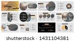 presentation template  yellow... | Shutterstock .eps vector #1431104381
