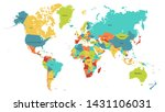 colored world map. political... | Shutterstock .eps vector #1431106031