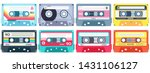 retro music cassette. stereo dj ... | Shutterstock .eps vector #1431106127